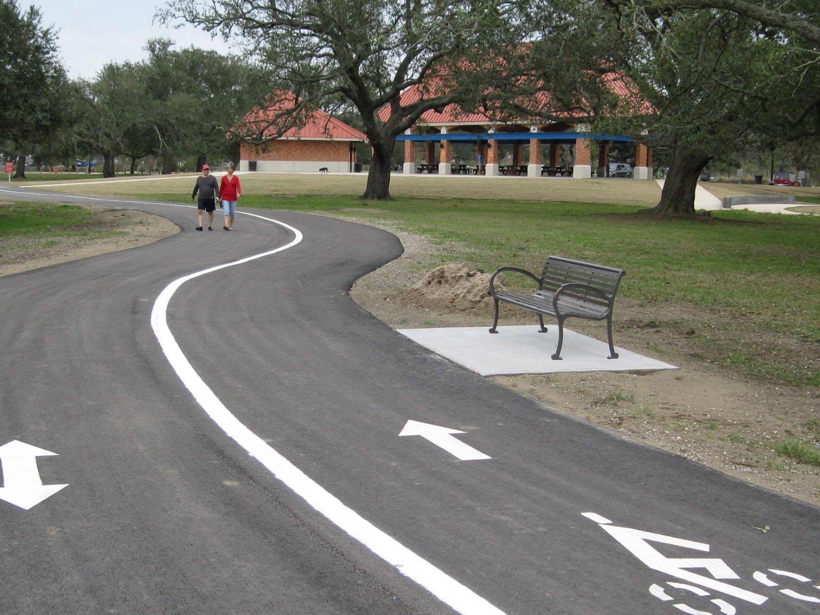 city park cycling and jogging trail